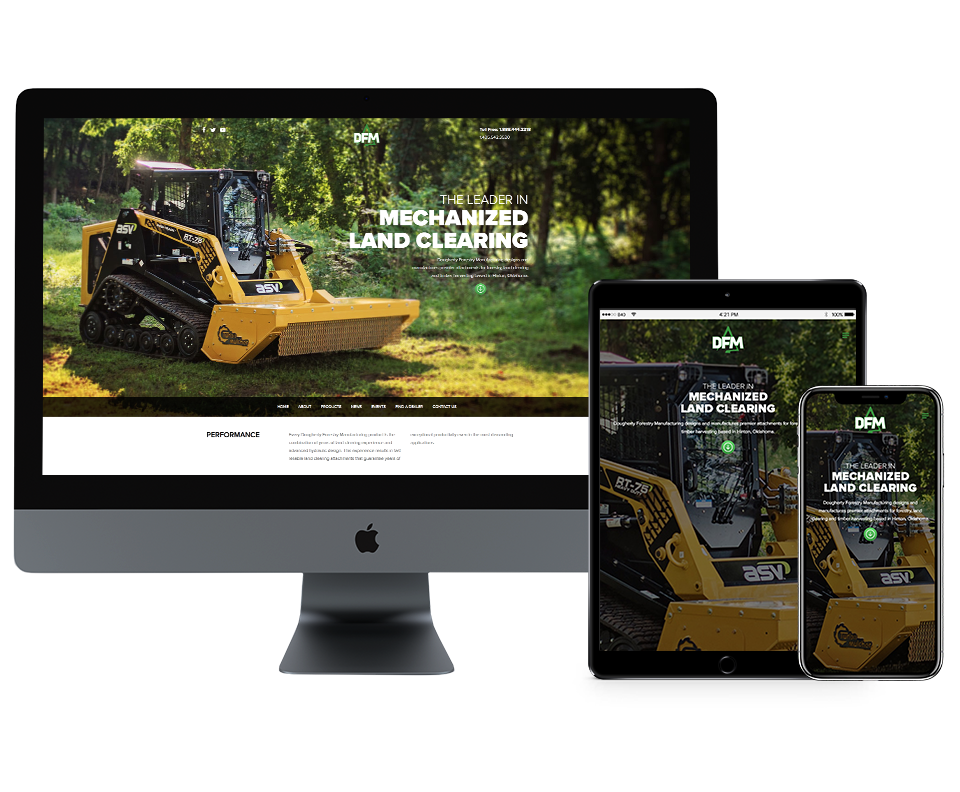 Back40 WordPress Website Project: Dougherty Forestry Manufacturing