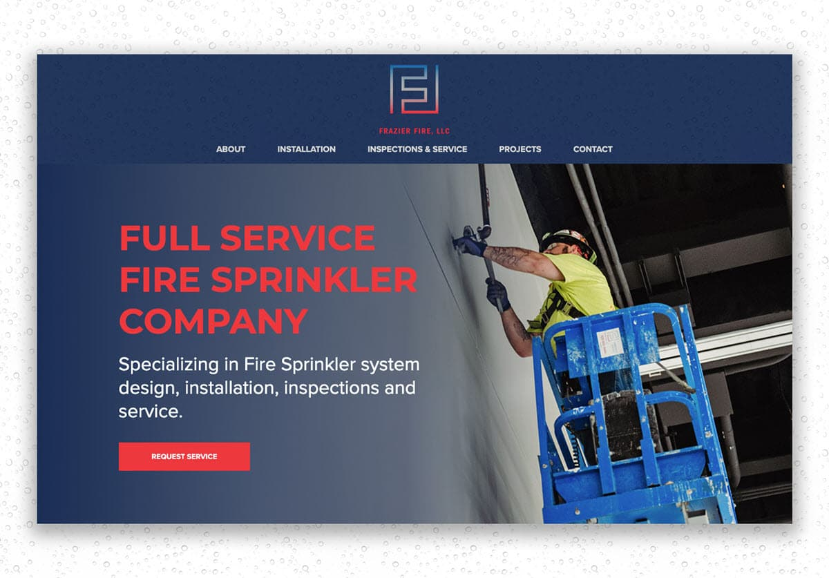 Frazier Fire Sprinkler Systems WordPress Template