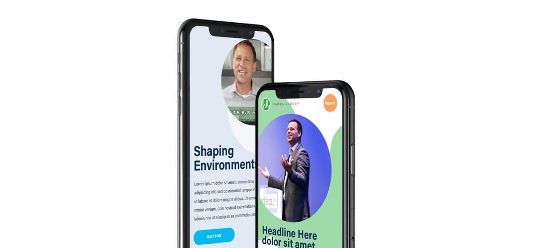 Hawks Agency Mobile Web Design