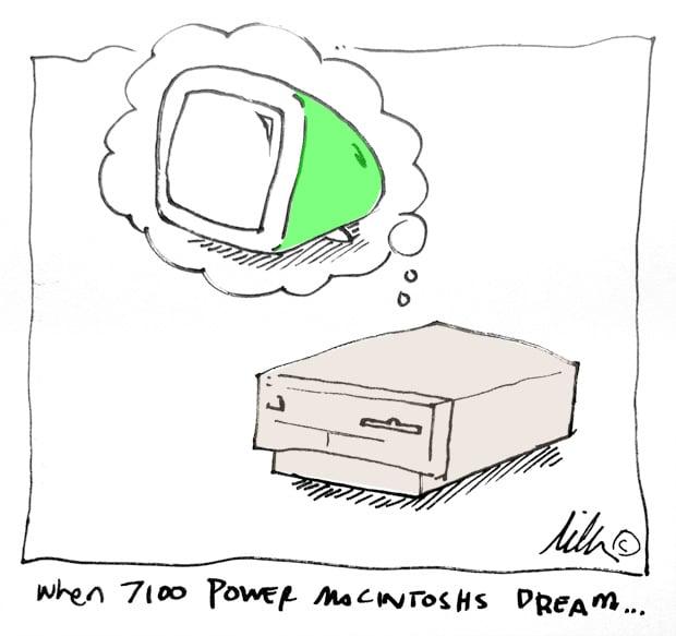 hen Apple Macintosh 7100s dream cartoon