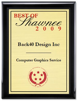Back40 Best of Shawnee Computer Graphics Service Award 2009