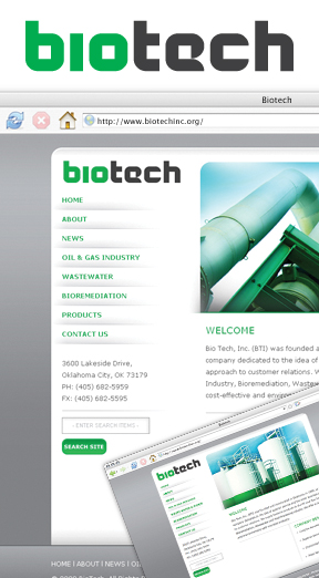 Web Portfolio - Bio Tech website