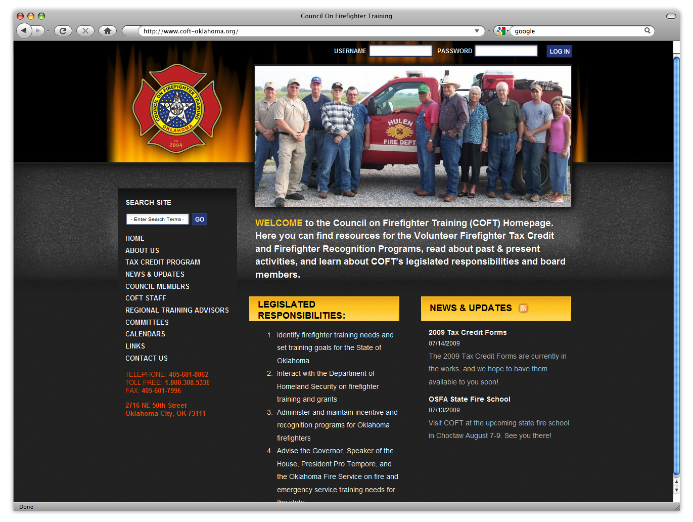 Council for Firefighter Training Website: after