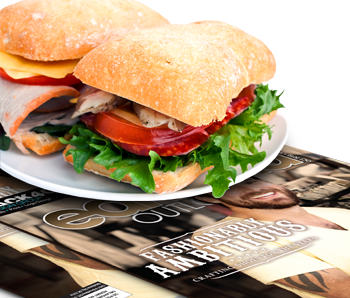 a ciabatta sandwich