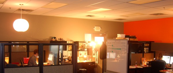 Back40 Design Web Design Offices where lighting is always at a minimum
