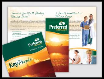 Preferred Management brochure design