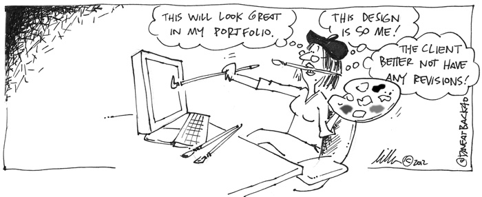Web designer artist cartoon