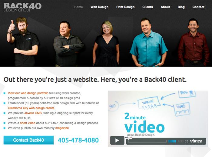 Back40 Website Redesign