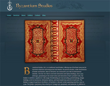 Byzantium Studios website