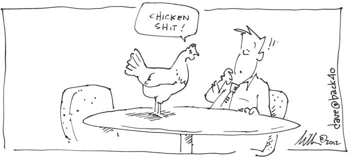 Chicken Shit Cartoon