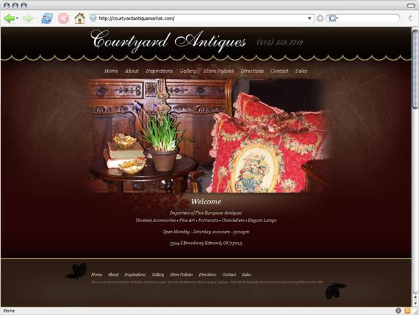 Web Portfolio Courtyard Antiques Website