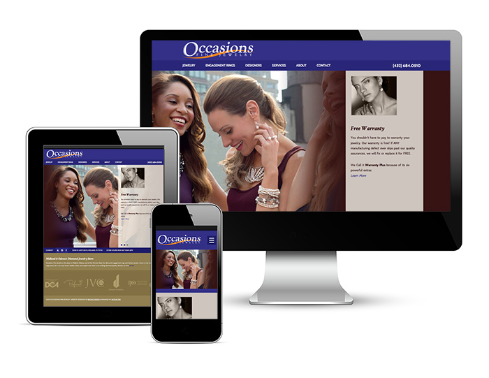 Responsive website on different devices