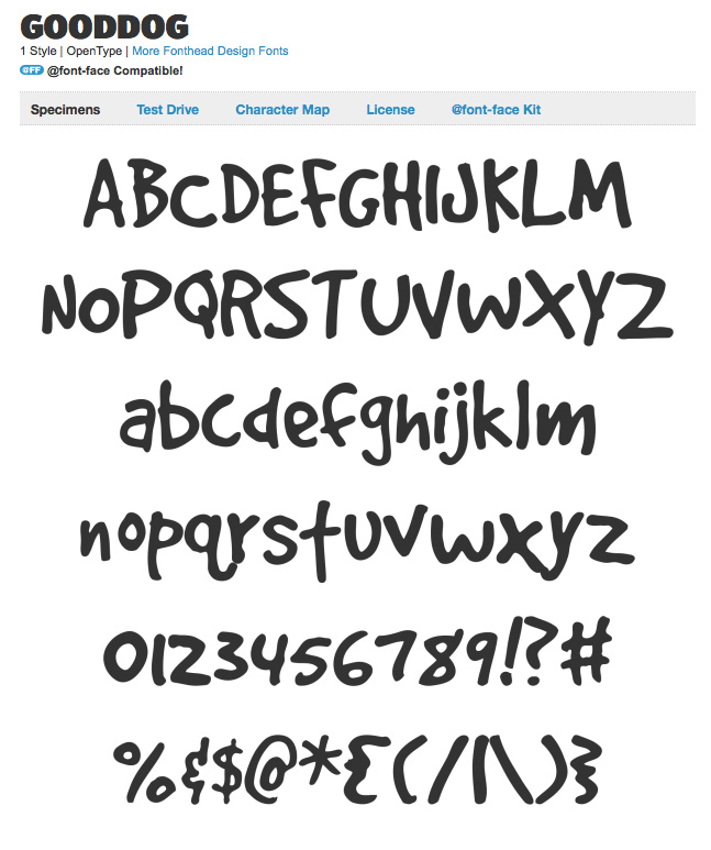 Display Typeface Using @font-face