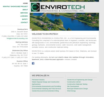 Oil & Gas website design