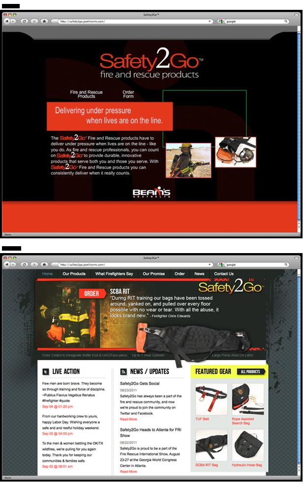 Back40 redesign of flash website Safety2go
