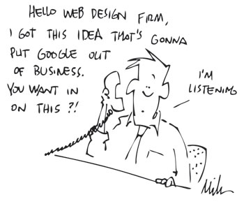 Web Design Client Cartoon
