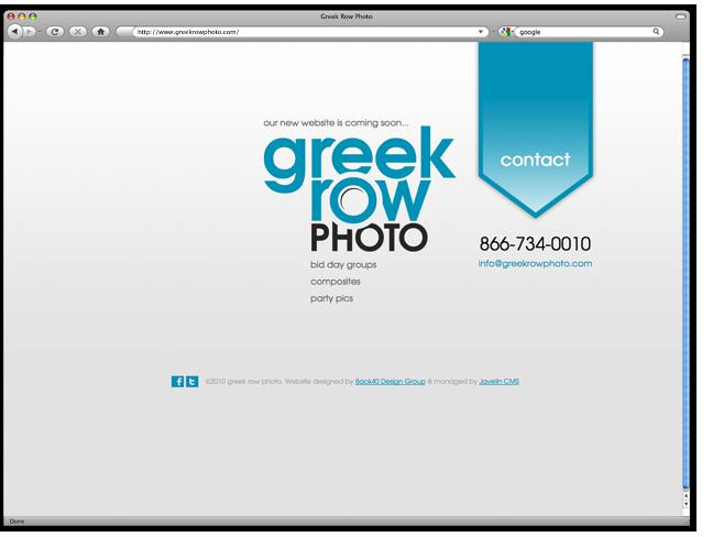 Website Splash Page Design