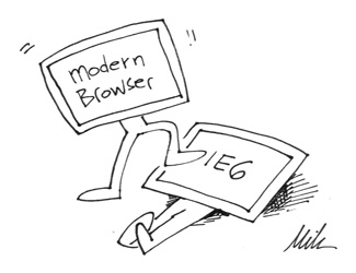 modern browser vs ie 6