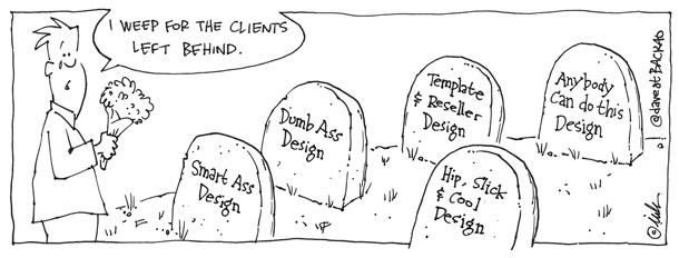 OKC Web Design clients left behind cartoon