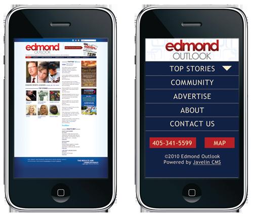 Edmond Outlook mobile design