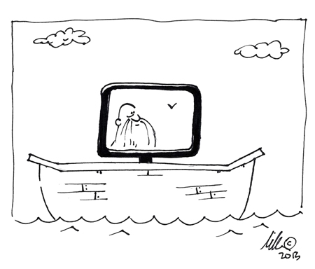 Noah's Arc School of Web Design cartoon