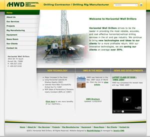 Oil & Gas website design - Horizontal Well Drillers