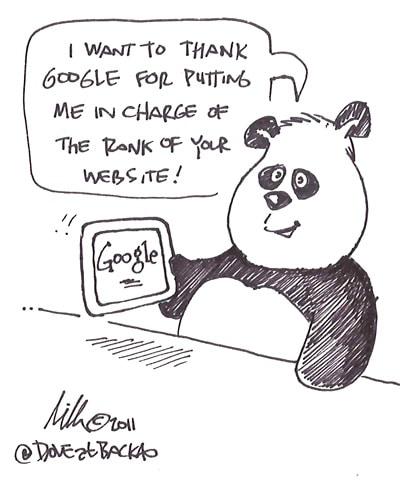 Google Panda cartoon