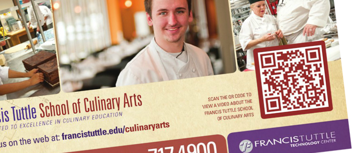 Francis Tuttle Culinary website QR Code