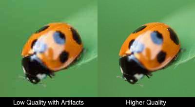 JPEG low quality vs high quality