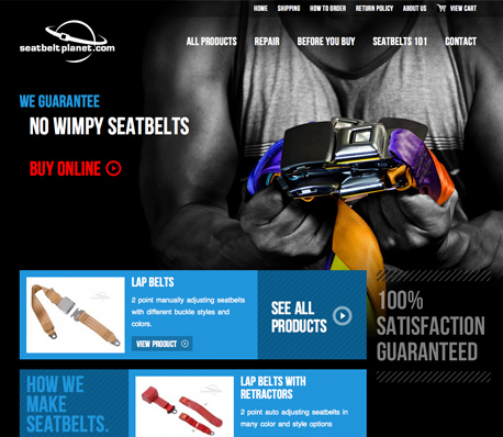 Seatbelt Planet Website Design