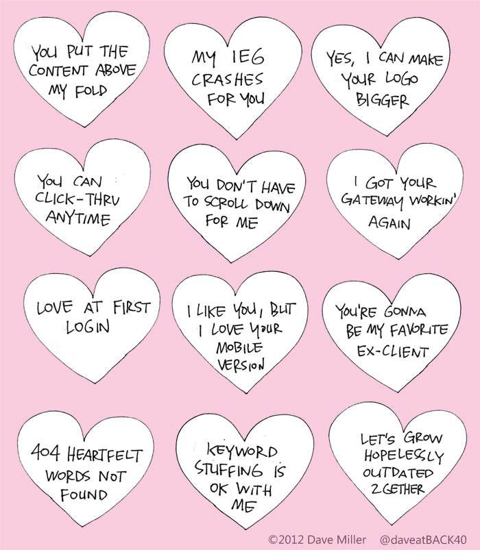 Web Design Valentine Messages cartoon
