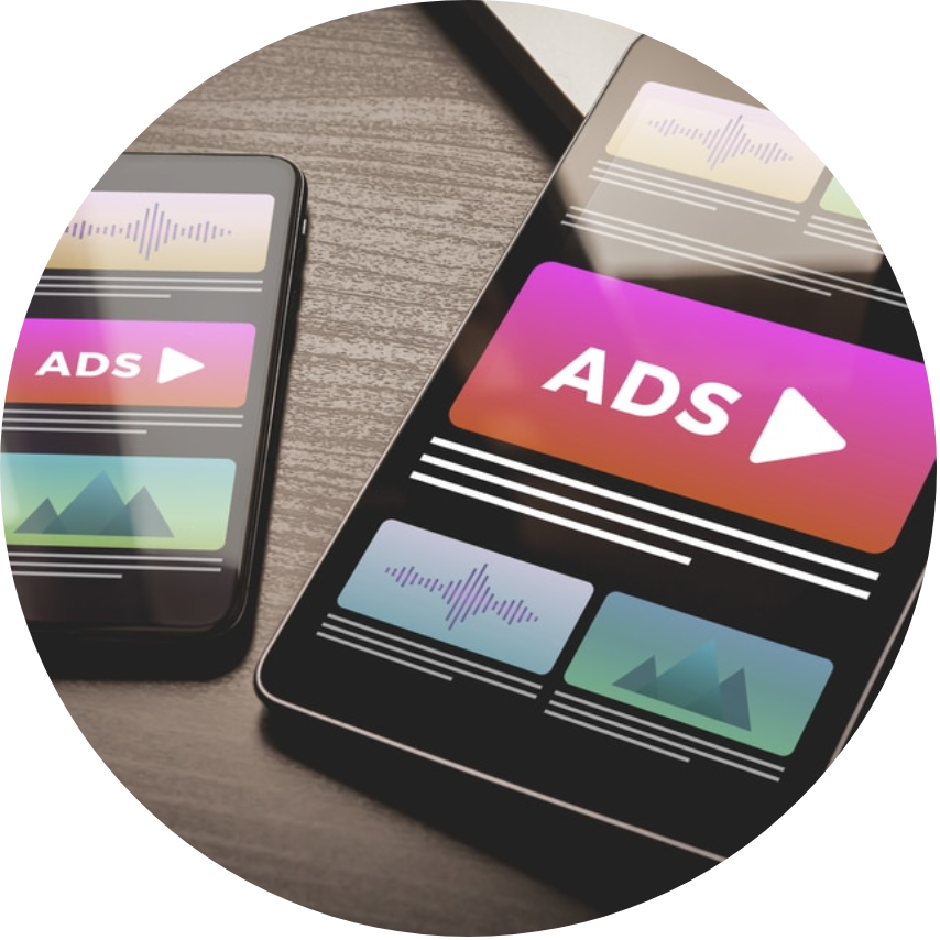 native ads on mobile and tablet
